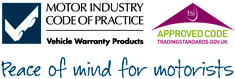 Motor Industry Code of Practice, Vehicle Warranty Products.   Aproved Code, TradingStandards.gov.uk   Peace of mind for motorists.