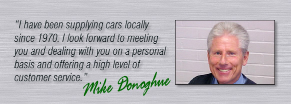 Mike Donoghue has been supplying cars locally since 1970