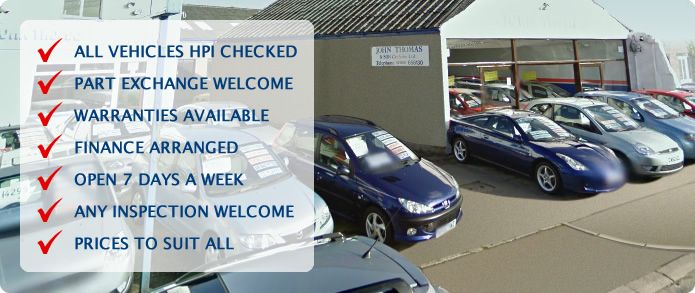 ALL VEHICLES HPI CHECKED, PART EXCHANGE WELCOME, WARRANTIES AVAILABLE, FINANCE ARRANGED, OPEN 7 DAYS A WEEK, ANY INSPECTION WELCOME, PRICES TO SUIT ALL
