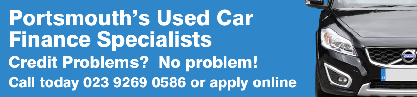Portsmouth's Used Car Finance Specialists. Credit Problems?  No problem! Call today 023 9269 0586 or apply online