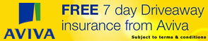 Aviva FREE 7 day Driveaway insurance from Aviva. Subject to terms and conditions.