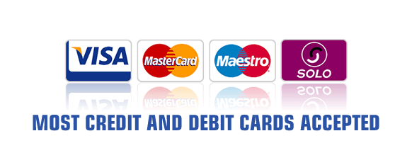 Smiths Ford Incorporating Midlands Ford Birmingham accept most credit and debit cards.