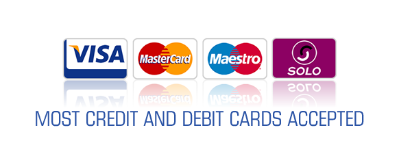 MOST CREDIT AND DEBIT CARDS ACCEPTED