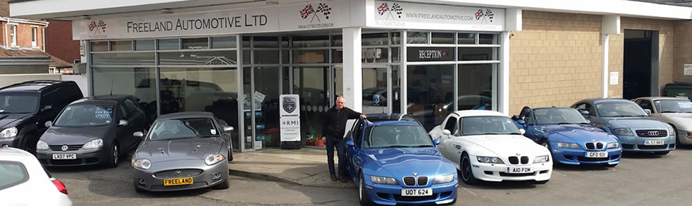 Freeland Automotive Ltd of Melksham, Wiltshire. Click here to see our current stock of used cars for sale