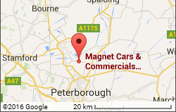 Google Location Map for Magnet Cars, Peterborough