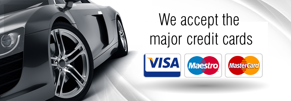 Most major credit and debit cards are accepted at The Upton Garage, Poole