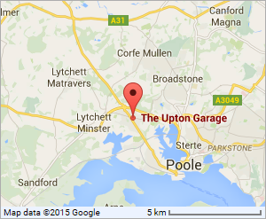 Google Location map for The Upton Garage, Poole