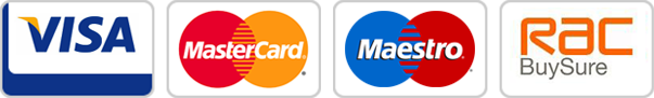 Major Credit Cards Accepted (e.g. Visa, Mastercard, Maestro). RAC Buysure.