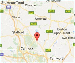 Google location map or K&J Cars & Campervans