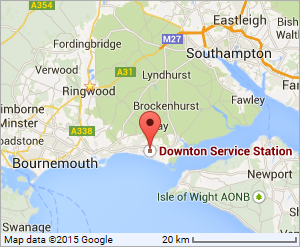 Google Location map for The Forecourt, Lymington