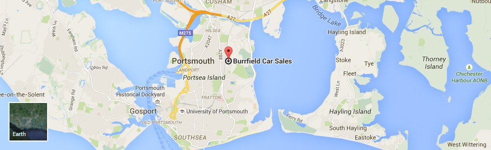 Burrfields Car Sales Portsmouth Google Location Map and Travel Directions