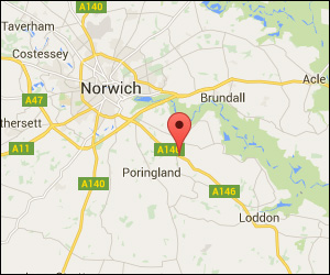 Google location map for Yelverton Vans Norwich